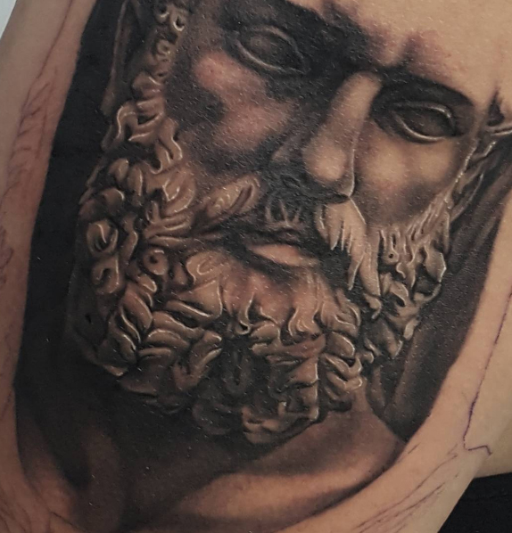 The Ace and Sword Tattoo Parlour Etobicoke Longbranch Toronto Tattoo by Danielle-Greek Face