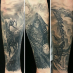 The Ace and Sword Tattoo Parlour Etobicoke Longbranch Toronto Tattoo by Danielle-Grim Reaper