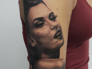 The Ace and Sword Tattoo Parlour Etobicoke Longbranch Toronto Tattoo by Danielle-Portrait Arm