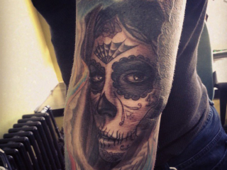 The Ace and Sword Tattoo Parlour Etobicoke Longbranch Toronto Tattoo by Danielle-Sugar Skull