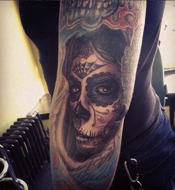 The Ace and Sword Tattoo Parlour Etobicoke Longbranch Toronto Tattoo by Danielle-Sugar Skull