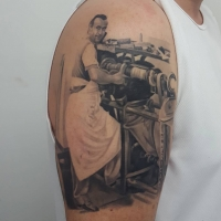The Ace and Sword Tattoo Parlour Etobicoke Longbranch Toronto Tattoo by Danielle-The Shoe Maker