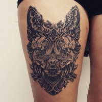 The Ace and Sword Tattoo Parlour Etobicoke Longbranch Toronto Tattoo by Danielle-Upper Thigh