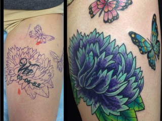 The Ace and Sword Tattoo Parlour Etobicoke Longbranch Toronto Tattoo by Dave-Flower Cover-up