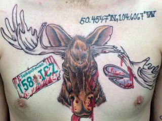 The Ace and Sword Tattoo Parlour Etobicoke Longbranch Toronto Tattoo by Dave-Moose Car Crash