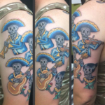 The Ace and Sword Tattoo Parlour Etobicoke Longbranch Toronto Tattoo by Dave-Musical Skeletons