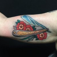 The Ace and Sword Tattoo Parlour Etobicoke Longbranch Toronto Tattoo by Dave-Straight Razor