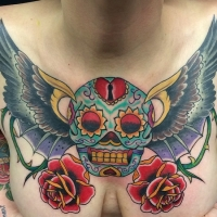 The Ace and Sword Tattoo Parlour Etobicoke Longbranch Toronto Tattoo by Dave-Sugar Skull