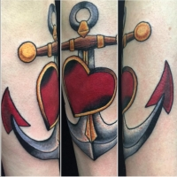 The Ace and Sword Tattoo Parlour Etobicoke Longbranch Toronto Tattoo by Dave-Traditional Anchor