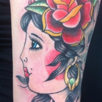 The Ace and Sword Tattoo Parlour Etobicoke Longbranch Toronto Tattoo by Dave-Traditional Lady