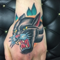 The Ace and Sword Tattoo Parlour Etobicoke Longbranch Toronto Tattoo by Dave-Traditional Panther
