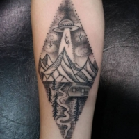The Ace and Sword Tattoo Parlour Etobicoke Longbranch Toronto Tattoo by Elyse-Aliens I Want to Believe