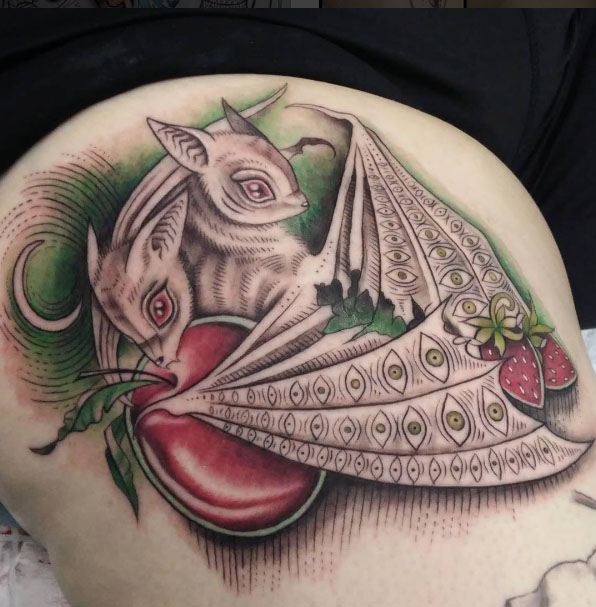 The Ace and Sword Tattoo Parlour Etobicoke Longbranch Toronto Tattoo by Elyse-Fruit Bats