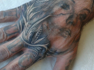 The Ace and Sword Tattoo Parlour Etobicoke Longbranch Toronto Tattoo by Elyse-Hand Jammer