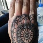 The Ace and Sword Tattoo Parlour Etobicoke Longbranch Toronto Tattoo by Elyse-Hand Mandala