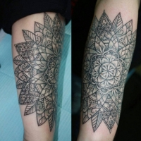 The Ace and Sword Tattoo Parlour Etobicoke Longbranch Toronto Tattoo by Elyse-Large Mandala