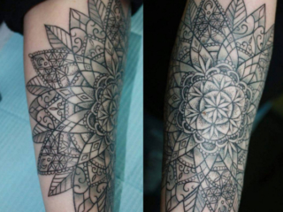 The Ace and Sword Tattoo Parlour Etobicoke Longbranch Toronto Tattoo by Elyse-Large Mandala