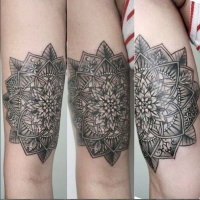 The Ace and Sword Tattoo Parlour Etobicoke Longbranch Toronto Tattoo by Elyse-Mandala Arm