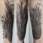The Ace and Sword Tattoo Parlour Etobicoke Longbranch Toronto Tattoo by Elyse-Pineapple and Wings