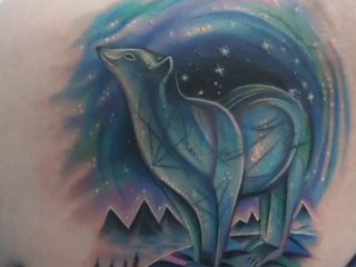 The Ace and Sword Tattoo Parlour Etobicoke Longbranch Toronto Tattoo by Elyse-Polar Bear Cover-up