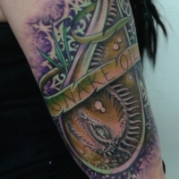 The Ace and Sword Tattoo Parlour Etobicoke Longbranch Toronto Tattoo by Elyse-Snake Oil