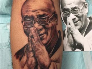 The Ace and Sword Tattoo Parlour Etobicoke Longbranch Toronto Tattoo by Kelly-Dalai Lama