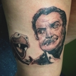 The Ace and Sword Tattoo Parlour Etobicoke Longbranch Toronto Tattoo by Kelly-Kermit the Frog and Vincent Price