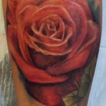 The Ace and Sword Tattoo Parlour Etobicoke Longbranch Toronto Tattoo by Kelly-Large Rose
