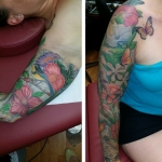 The Ace and Sword Tattoo Parlour Etobicoke Longbranch Toronto Tattoo by Laura-Flowers on Arm