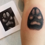 The Ace and Sword Tattoo Parlour Etobicoke Longbranch Toronto Tattoo by Laura-Paw Print