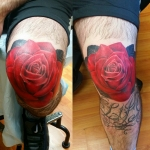 The Ace and Sword Tattoo Parlour Etobicoke Longbranch Toronto Tattoo by Laura-Rose on Knee