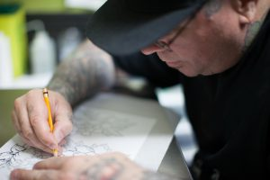 How to get the perfect Toronto Tattoo-Dave drawing